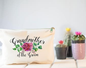 Grandmother of the Groom Gift, Wedding Makeup Bag, Grandmother Wedding Gift, Wedding Gift, Gift for Grandmother of the Groom, Make Up Bag