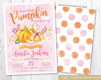 Little pumpkin baby shower invitation fall autumn a little pumpkin fall baby shower invitation girl fall baby shower invite burlap autumn shower filmwisefo Choice Image
