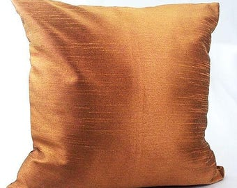 Brown throw pillows, Brown toss pillow, Satin brown pillow, Dark brown pillow cover, Dark gold brown pillow, Brown room decor,
