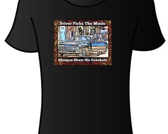Supernatural tshirt (driver picks the music)