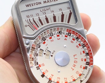 Weston Master V Exposure Light Meter with Invercone - Working with leather cases - Very good condition c. 1963