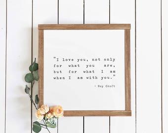 Love Sign | Anniversary Sign | Farmhouse Decor | love quote sign | rustic wood sign | farmhouse sign | fixer upper | Roy Croft | bedroom