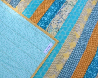Baby Quilt in Sunny Summer Stripes