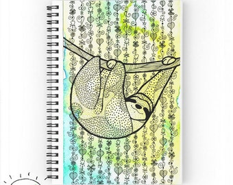 Sloth Journal Sloth Notebook Sloth Book Sloth Paper Pad Sloth Notepad Sloths Cute Sloth Gift Sloth Design Sloth Work Gift