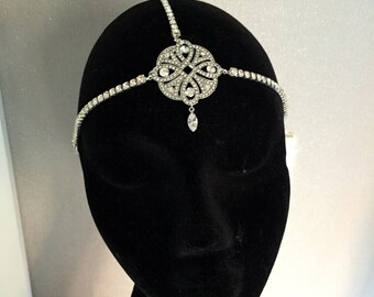 Gatsby 1920s headpiece - bridal headpiece - Art deco headpiece- 1920s dress - Flapper Headdress - Art Deco