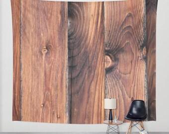 Barnwood, Wall Tapestry, Wood, Brown, Rustic, Desert,Modern Wall Art,Home Decor,Home Accessories,Bedroom Art,Unique Design,Interior Design