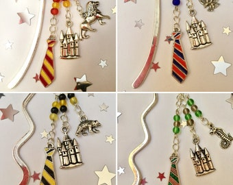 Set of Handmade Hogwarts House Bookmarks!