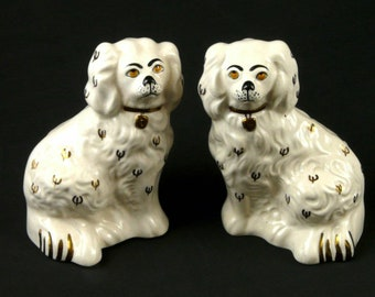 A Pair of Reproduction Staffordshire Spaniel Dogs • Manufactured for St Michael, Marks and Spencer