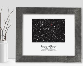 Colorado Map State of Colorado Wall Art Frame Canvas Guest Book Print Colorado Wedding Gift Colorado Love Night Sky Star Chart Constellation