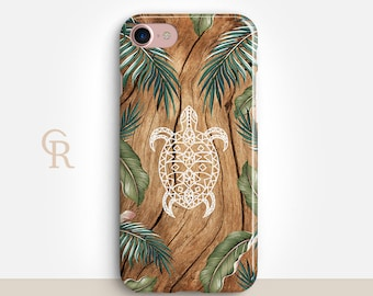 Turtle Phone Case For iPhone 8 iPhone 8 Plus iPhone X Phone 7 Plus iPhone 6 iPhone 6S  iPhone SE Samsung S8 iPhone 5 Animal Wood Forest