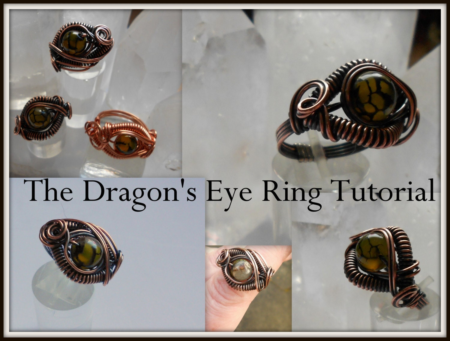 Dragon\'s Eye Ring - A Wire Wrap Tutorial from WireGuild on Etsy Studio
