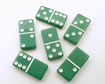 Vintage Dominoes Green Game Tiles