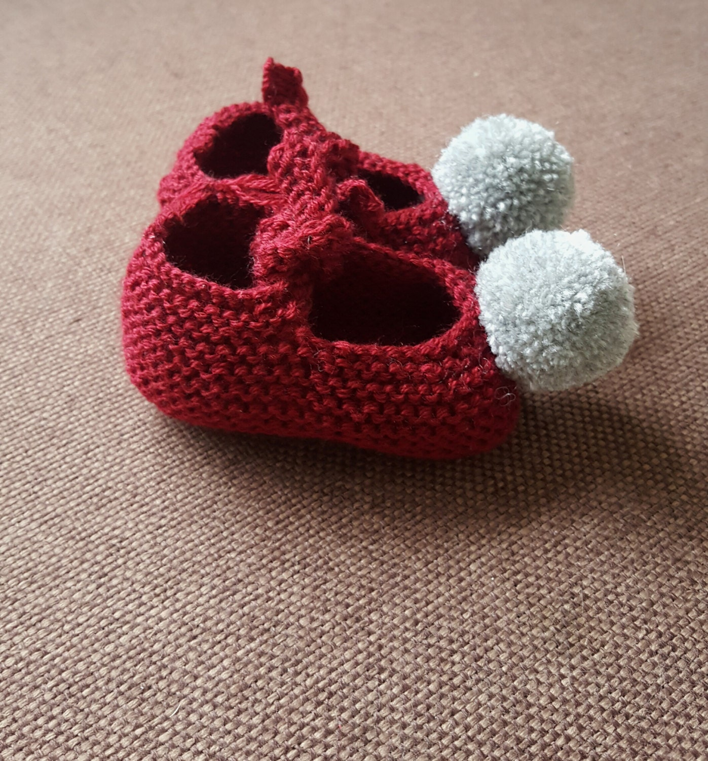 Hand knitted baby booties baby shoes baby shower t baby