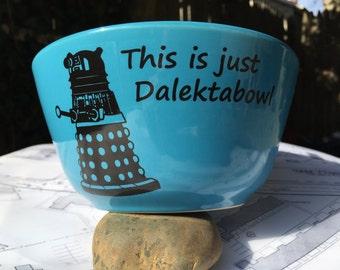 Dr Who Dalek bowl, funny Dalektabowl cereal bowl whovian bowl Daleks great gift doctor Teal OR Grey gray , ceramic kiln fired