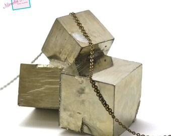 "1 m of mesh chain ""Oval 2 x 1, 5 mm"", bronze 07"