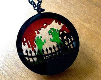 Layered Diorama Necklace - Zombie Outbreak