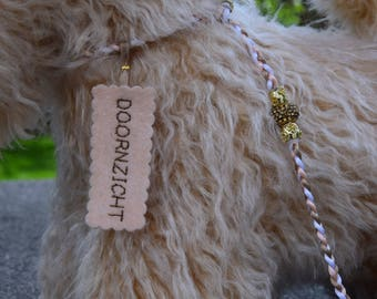 Wheaten terrier pluche with ribbon and name tag