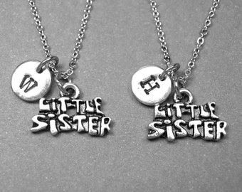 Best friend necklace, sister necklace, little sister necklace, sister jewelry, BFF necklace, friendship jewelry, personalized necklace