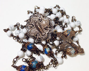 Ornate Vintage Style Wire Wrapped Unbreakable Rosary