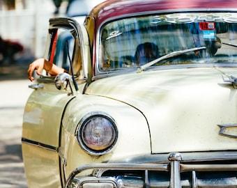 Classic Car in Havana - Photography Fine Art Print, Home Decor, 1950s Car, Relax Print, Travel Photography, Cuban Art, Cuba Car, Havana Taxi