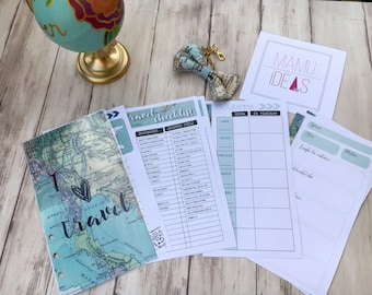 Travel kit-refills for Filofax personal-print-ready pdf-for filofax, kikkik, websters etc.