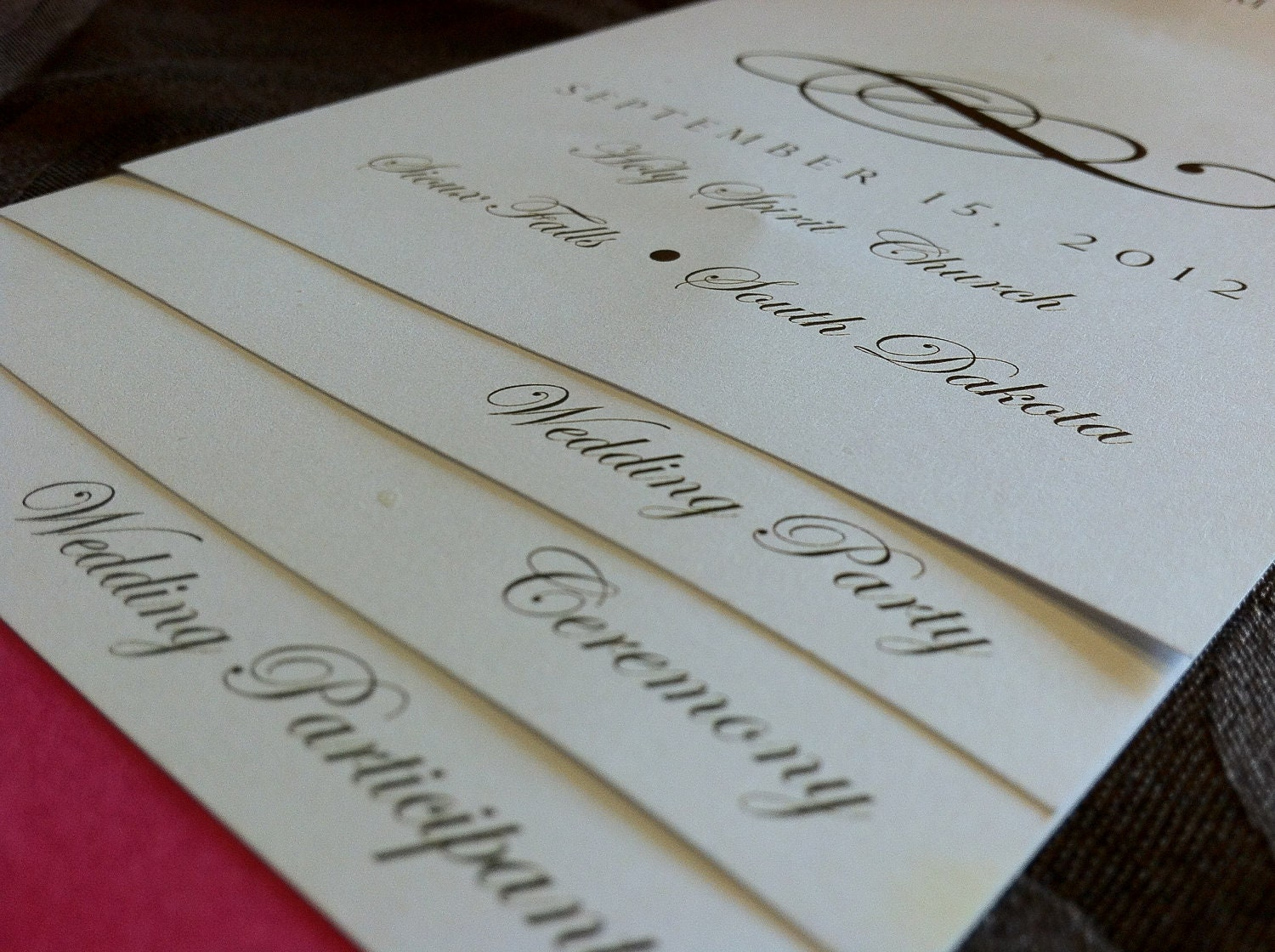 DIY 4 PAGE Layered Wedding Program Template Scroll