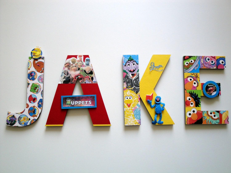 Sesame Street Muppets Wall Letters Sesame Street Playroom