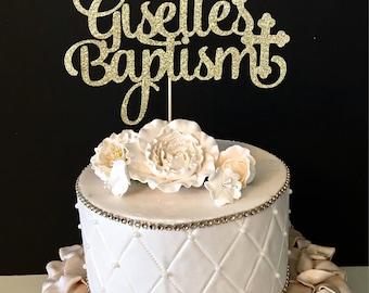 Personalized Baptism Cake Topper, Baptism Cake Topper, Christening Cake Topper, Any name