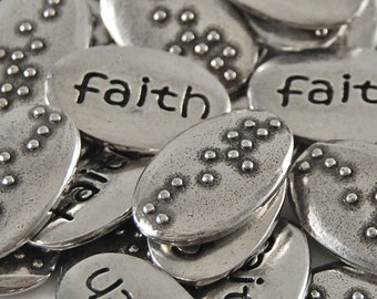 Faith Braille Word Pebbles - SET OF 10