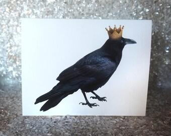 Raven King Printable Card