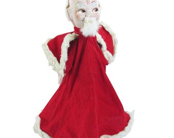 1950s Hand Puppet, Hand Made, Hand Painted - Catholic Cardinal, Priest,