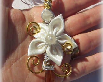 Satin Flower Ornament