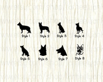 German Shepherd Car Decal,German Shepherd Face Car Decal, Police Dog Car Decal, K9 Unit Car Decal, K9 Car Decal,Dog Car Decal,Shepherd Decal