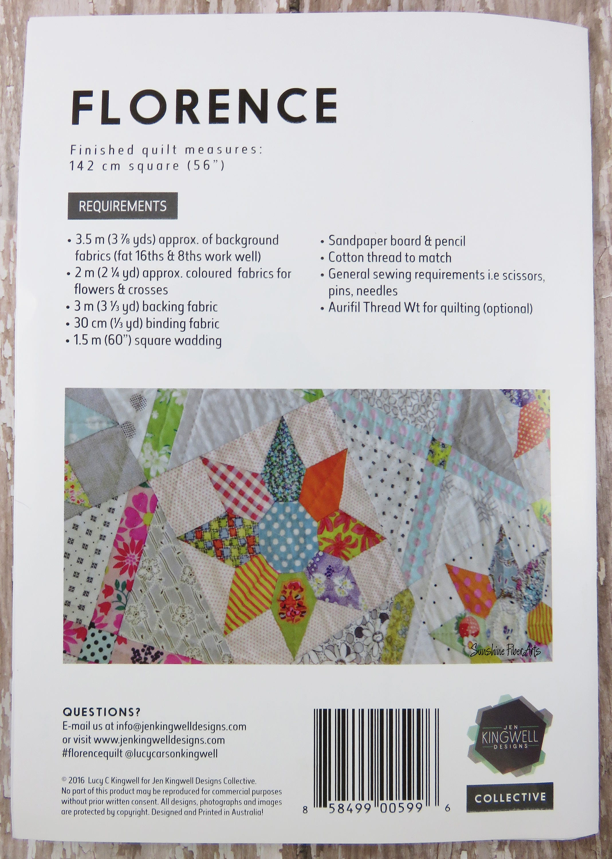 Acrylic Templates - Florence Quilt Pattern Included - Jen Kingwell ...