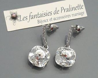 Bridal earrings, CZ bridal earrings, Bridal crystal earrings, Rhinestones earrings stud, bridal jewelry, Bridesmaids earrings jewelry