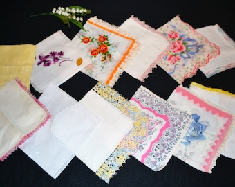Vintage Hankies Mix Up Sweet Bouquet.......Twelve
