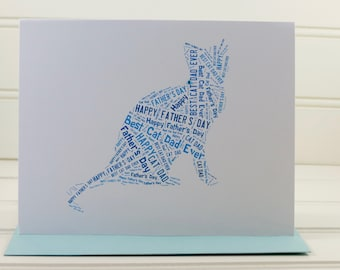Best Cat Dad Ever, Cat Father's Day Card, Cat Dad, Fathers Day Card, Custom Cat Card, Cat Lover, Cat Owner, From the Cat, Personalized Card