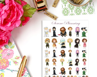 SP-092 Magical Wizards & Witches Adults Set 1 Planner Stickers