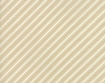 Fig Tree Fabric - Ella and Ollie Fabric Yardage - Moda Quilt Fabric - Tan Stripe Fabric By The 1/2 Yard -