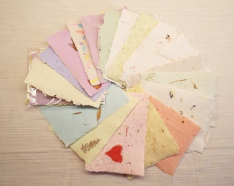 "20 sheets of assorted 5""x 7""handmade paper,scrapbooking,writing paper,craft paper, stationery"