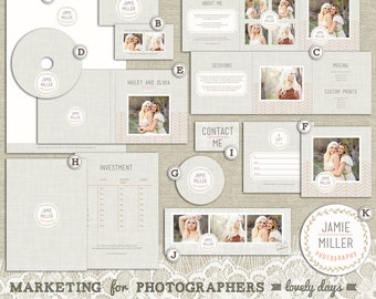 Photography Marketing Set Kit for Photographers Logo Business Card INSTANT DOWNLOAD