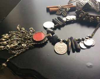 Metal & Magick Collection...Tribal Fusion Necklace...Tribal Fusion Bellydance ATS Kuchi Boho Gypsy Festival