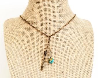 Arrow Necklace, Arrow Pendant Necklace, Boho Arrow Necklace, Bohemian Jewelry, Protection Jewelry, Wanderlust Jewelry, Arrow Graduation Gift