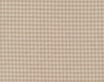 Checks Please Brown Gingham Organic Cotton Fabric