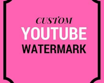 CUSTOM Youtube Watermark Branding Channel Art