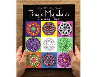 Mandala Coloring Book - Volume 1 - Mandala Coloring Pages - Coloring Books - Adult Coloring Book - Mandala Pages - Stress Relief Coloring