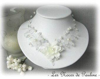 Ivory bridal flower Tatiana 'Twist' collection