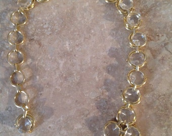Gold and clear chunky chain