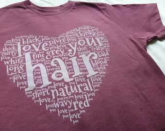NATURAL HAIR UNISEX Fit Women's Tee Positive Pro Girl Self Love Pride T-shirt