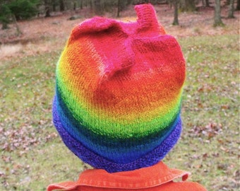 Pinwheel Hat Pattern Knit Knitted PDF